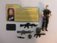 GI Joe Leatherneck v4 Action Figure COMPLETE with File Card Cobra TIGHT