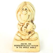"""Vintage Paula Figurine """"You're the wonderfullest person in the whole world"""""""