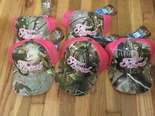 Ford-Realtree Pink & Camo Hats Lot Of 5 OSFM