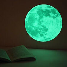 """Wall Stickers Moon Glow in the Dark Moonlight Home Decals for Kids Rooms 15.7"""""""