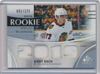 2019-20 SP Game Used Rookie Relic Blends Jersey Kirby Dach 1/125 Blackhawks