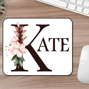 Personalised Custom Your Inital Name Mousemat Mouse Pad Extra Thick Rubber 1