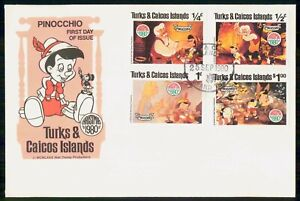Mayfairstamps TURKS & CAICOS ISLANDS FDC 1980 COVER PINOCCHIO COMBO wwi81517