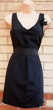 RIVER ISLAND A LINE BLACK ZIP BACK PROM BACKLESS PARTY EVENING TEA DRESS 8 S