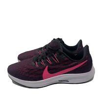 Nike Air Zoom Pegasus 36 Black Pink Blast Womens Sz 9 Running Shoes AQ2210-009