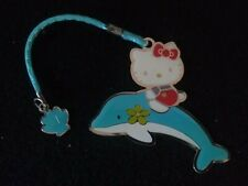 Hello Kitty On Dolphine Cell Phone Charm Strap