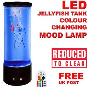 Jellyfish Aquarium Lamp Electric Fake Fish Tank LED Colour Changing Mood Light