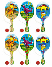 6 Dinosaurier Paddel Bats-Pinata Spielzeug Loot/Partypack Kinder/Kinder Holz