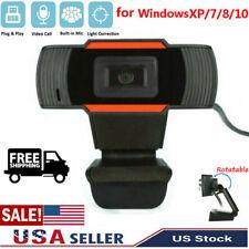 HD USB Computer Web Webcam Camera For PC Laptop Desktop Video Cam W/ Microphone