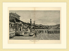 CORSA nel circo Maximus a Roma dipinto Giuseppe Sciuti chiave in legno g47