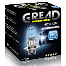 H3 gread 55w 8500k XENON LOOK ottica alle lampade alogene certificazione e Super White