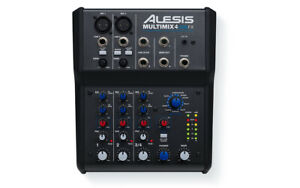 Alesis Multimix 4 USB FX Effects Mixer 4-Channel Mixing Desk with USB Interface