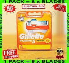 Gillette Fusion 5 Power Blades 8 Razor NEW Sealed 100% Genuine Free P&P