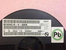 BZX84C18-V-GS08 VISHAY Zener Diodes 18V 0.35W 5% SOT-23 ROHS 100 PIECES