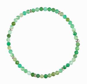 Chrysopras Edelstein-Armband Stretch Perlenarmband D251