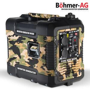Silent Inverter Petrol Generator ~ W4500i 1900W Portable Camping 4 stroke Power