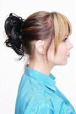 Postiche cheveux synthétiques CHOUCHOU Scrunchy bandeau queue de cheval noir
