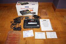 Master System II Consola Con 2 Mandos Cable TV Caja e Instrucciones Funcionando
