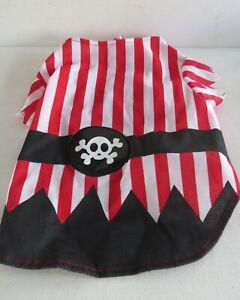 Dog Striped Red & WHITE Pirate Costume~ Size Medium