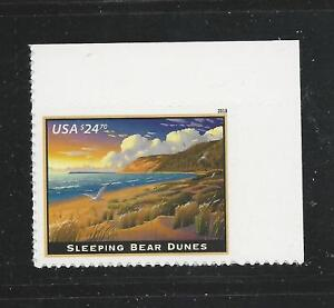 2018 #5258 Express mail stamp Sleeping Bear Dunes $24.70 Mint NH