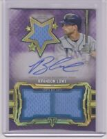2020 Topps Triple Threads Brandon Lowe Amethyst Jersey Auto Relic Card # 50/75