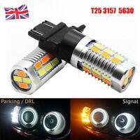 T25 3157 5630 SMD LED Bulb Amber White Switchback Turn Signal Brake Indicator