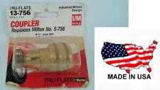 "NOS USA Tru-Flate 13-756 Coupler 1/4"" Male NPT Push Industrial Milton I/M STYLE"