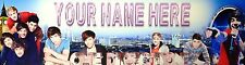 "FREE ""ONE DIRECTION"" PERSONALIZED W/NAME PRINT,  ART/POSTER/BANNER  30""X8.5"""