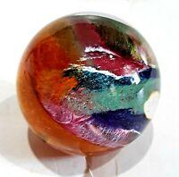 TERRIFIC FRED WILKERSON MOUNDSVILLE, WV 2002 HAND BLOWN ART GLASS PAPERWEIGHT