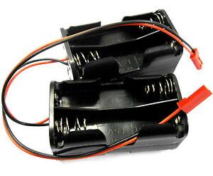 C1202-7x2 RC Batterie Support Étui Boîte Paquet 4 Aa Compatible Jst 2 Broche X 2