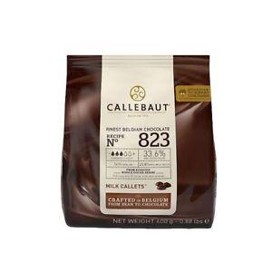Callebaut No 823 Finest Belgian Milk Chocolate Callets Couverture 33.6% - 400g