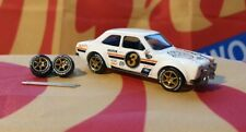Gold 1/64  P1 Rubber Wheels 6 Thin Spoke Real Riders Hot Wheels Matchbox Ford