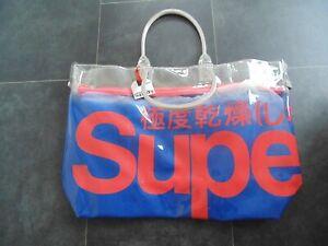 Superdry Gradient Whopper Size O/S Beach/ Pool Tote Bag In Deep Cobalt
