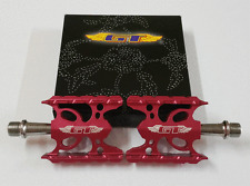 GT WING Vintage Old School BMX Pedals Bicycle Bike Alloy 9/16 Flat-Platform Pink