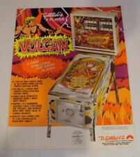 "1977 Gottlib ""Vulcan"" Pinball Sales Flyer Free USA Shipping!"