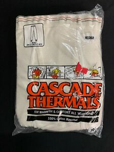 Vintage Cascade Mens Thermal Long John Winter Pants Whote Size Medium NEW