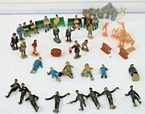 Mixed Lot Approx. 40 S&O ga. People Figures +Park Benches  used some painted