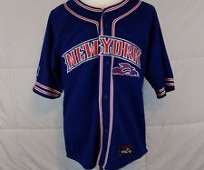 Orange County Choppers OCC New York Baseball Jersey Blue Size M