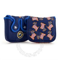 19th Hole US Flag Dancing Scottie Dog Heel/Center Shaft Mallet Putter Head cover