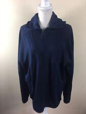 Nike Men's Dri-Fit Pullover Long Sleeve Hooded 1/4 Zip Navy Blue Jacket Size Xl