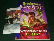 RL STINE GOOSEBUMPS SIGNED AUTOGRAPHED SLAPPY BIRTHDAY TO YOU BOOK JSA COA B
