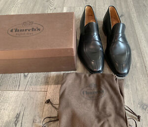 New Church's Swanley Split Toe Penny Loafers Calfskin Shoes 12D