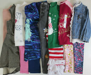 LOT Girls Clothes Sz 5T 5 5/6 Outfits Shirts Leggings Hoodie Jeans Dress WInter