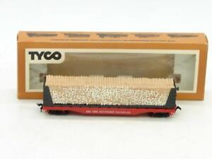 TYCO Trains HO Southern 4365 Bulkhead Flat with Wood Load NIB 334:300