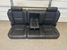 2007-2013 1500 2500 3500 CHEVROLET SILVERADO CREW CAB EBONY LEATHER REAR SEAT