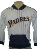 San Diego Padres 1998 Logo Hoodie Long Sleeve Shirt Size Youth Large White