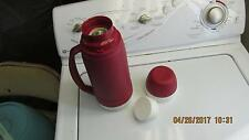 Hot Red Non Drip Thermos With Screw On Cup