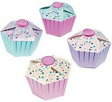 Pack of 12 - Birthday Cupcake Favor Boxes - Gift Boxes Party Wedding