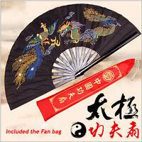 Martial Arts Tai Chi Bamboo Handheld Fan Folding Practice Performance Training