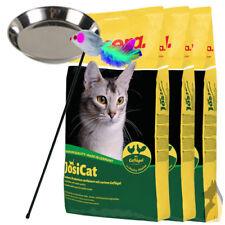3 x 10 kg Josera JosiCat Geflügel + Katzennapf + Spielstab
